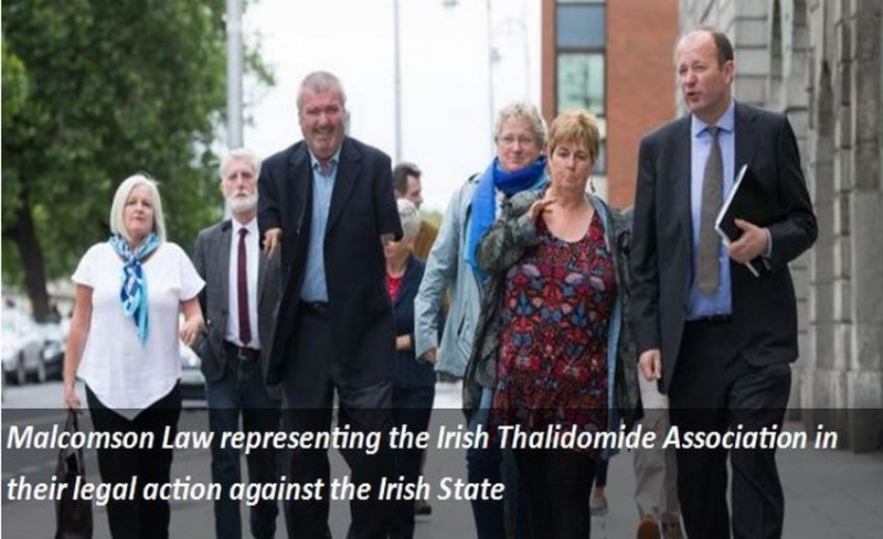 Malcomson Law representing the Irish Thalidomide Association in their legal action against the Irish State.